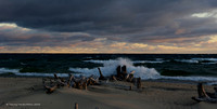 Dawn and Waves Breaking at Whitefish Point
